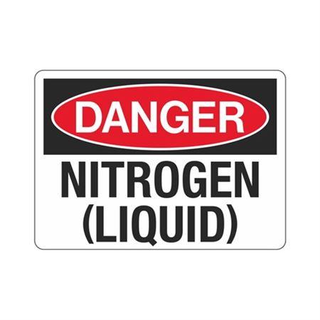 Danger Nitrogen (Liquid) (Hazmat) Sign