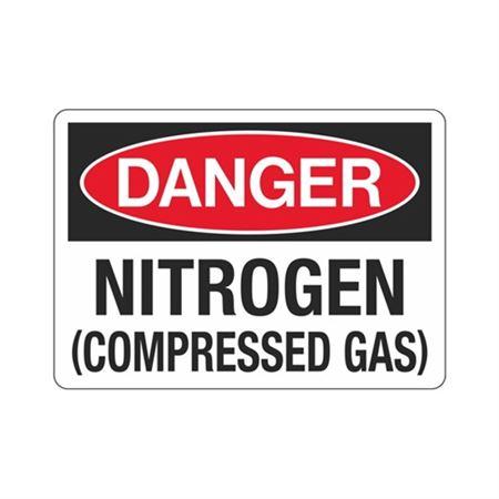 Danger Nitrogen (Compressed Gas) (Hazmat) Sign