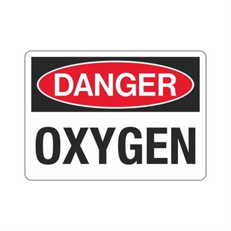 Danger Oxygen (Hazmat) Sign