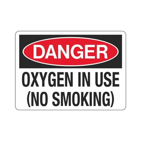 Danger Oxygen In Use (No Smoking) (Hazmat) Sign