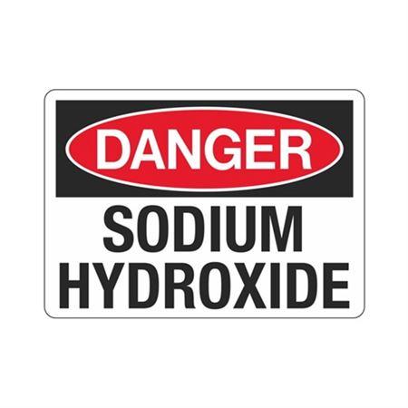Danger Sodium Hydroxide (Hazmat) Sign