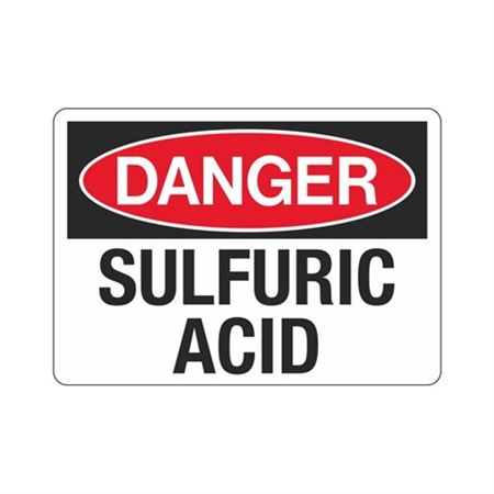 Danger Sulfuric Acid (Hazmat) Sign