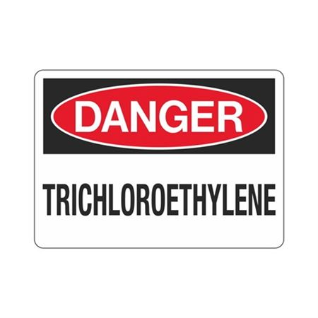 Danger Trichloroethylene (Hazmat) Sign