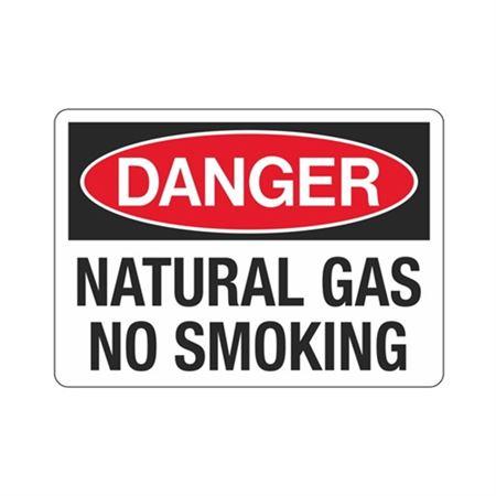 Danger Natural Gas No Smoking (Hazmat) Sign