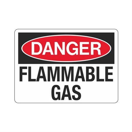 Danger Flammable Gas Hazmat  Sign