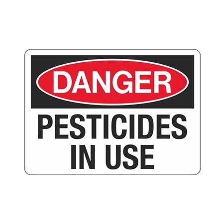 Danger Pesticides in Use (Hazmat) Sign