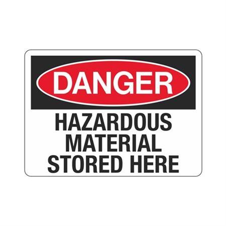 Danger Hazardous Material Stored Here (Hazmat) Sign