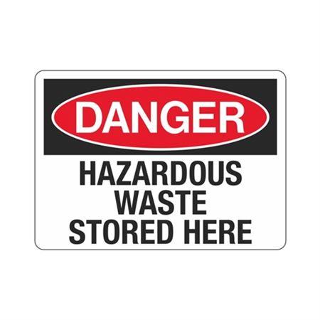 Danger Hazardous Waste Stored Here (Hazmat) Sign