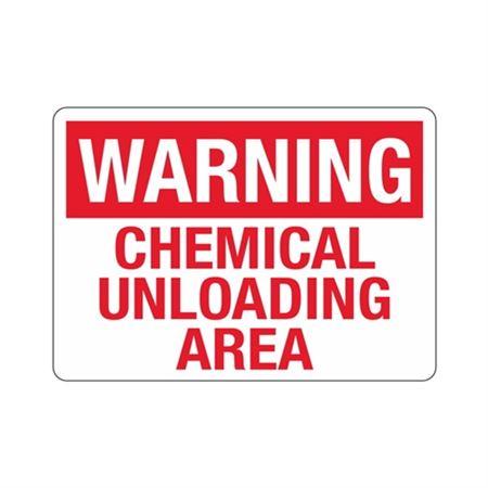 Warning Chemical Unloading Area (Hazmat) Sign