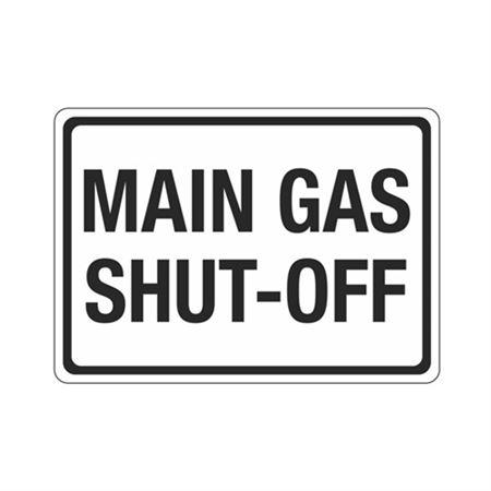 Main Gas Shut(Hazmat) -Off (Hazmat) Sign