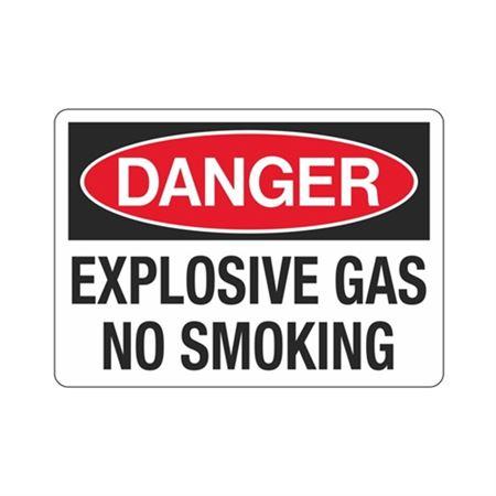 Danger Explosive Gas No Smoking (Hazmat) Sign