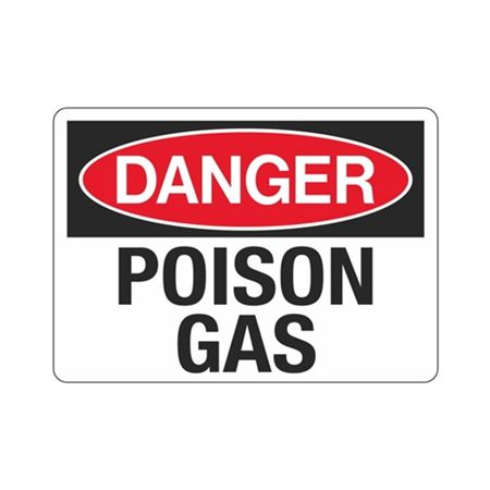 Danger Poison Gas (Hazmat) Sign