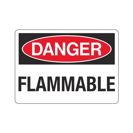 Danger Flammable (Hazmat) Sign