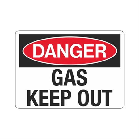Danger Gas Keep Out (Hazmat) Sign