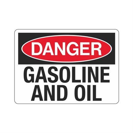Danger Gasoline And Oil (Hazmat) Sign