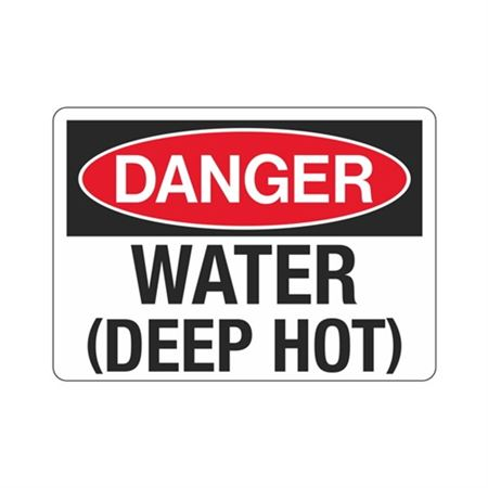 Danger Water (Deep Hot) Sign