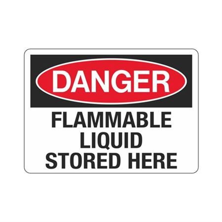 Danger Flammable Liquid Stored Here Sign