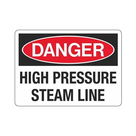 Danger High Pressure Steam Line Sign
