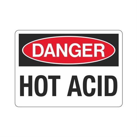 Danger Hot Acid Sign