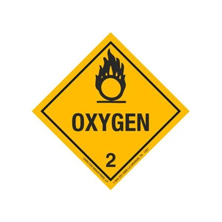Oxygen Shipping Label