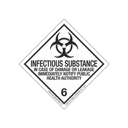 Infectious Substance Shipping Label