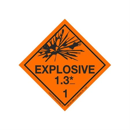 Explosive 1.3 Shipping Labels