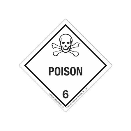 Poisonous Material Shipping Label - 4 x 4 Roll of 500