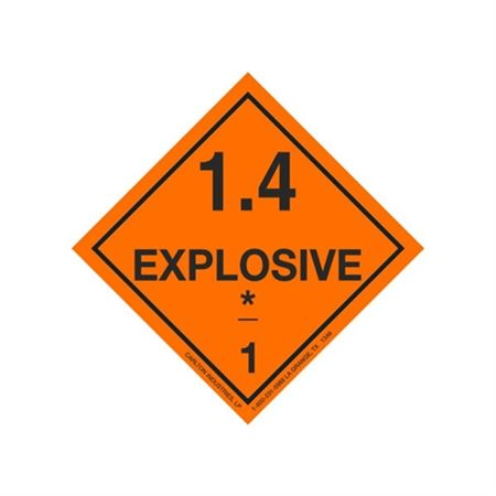 Explosive 1.4 Shipping Labels