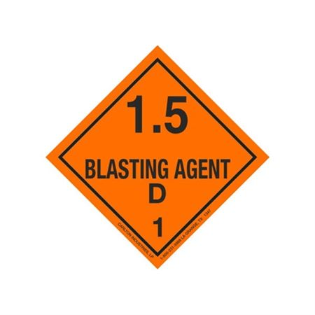 Explosive Blasting Agent 1.5 Shipping Labels