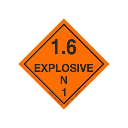Explosive 1.6 Shipping Labels