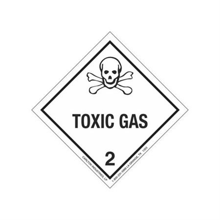Toxic Gas Shipping Label
