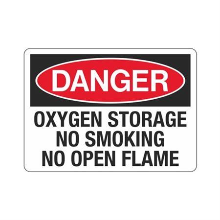 Danger Oxygen Storage No … king No Open Flame Sign