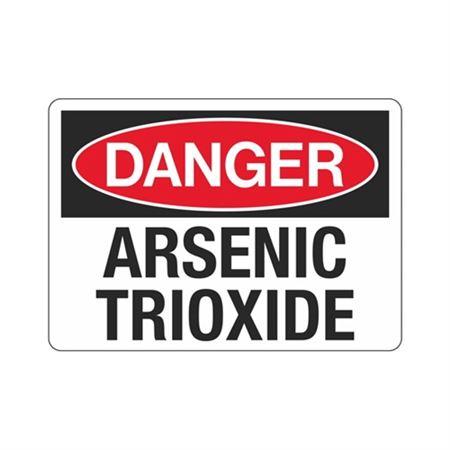 Danger Arsenic Trioxide Sign