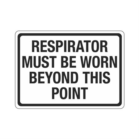 Respirator Must Be Worn Beyond This Point Sign