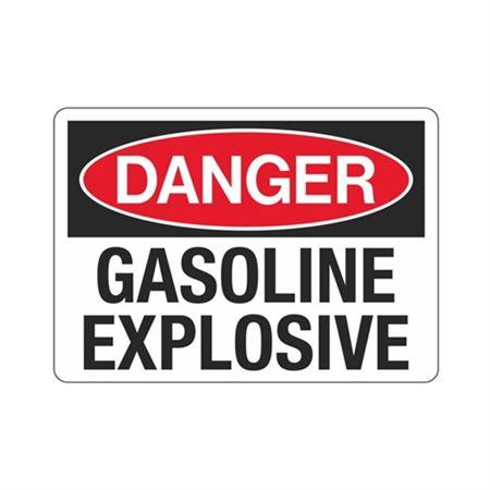 Danger Gasoline Explosive Sign