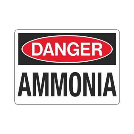 Danger Ammonia Sign