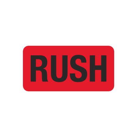 Pre-Printed Hot Strips - RUSH - 1 x 2