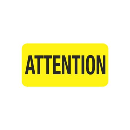 Pre-Printed Hot Strips - ATTENTION - 1 X 2