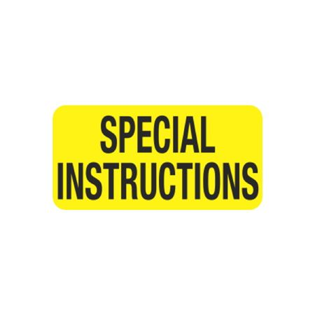 Hot Strips - Special Instructions - Yellow 1 x 2