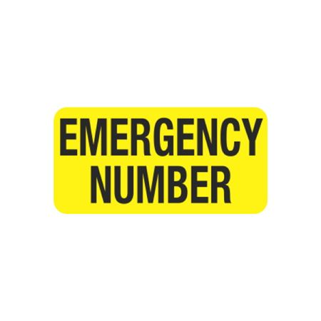 Hot Strips - Emergency Number - Yellow 1 x 2