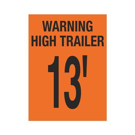 Trailer Markings - Warning High Trailer - 13' 11 x 15