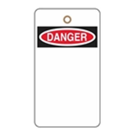 Low Quantity Custom Printed Vinyl Tags - Danger 3.125 x 5.625