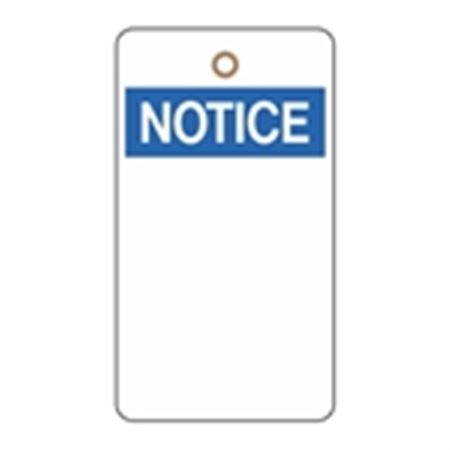 Low Quantity Custom Printed Vinyl Tags - Notice 3.125 x 5.625