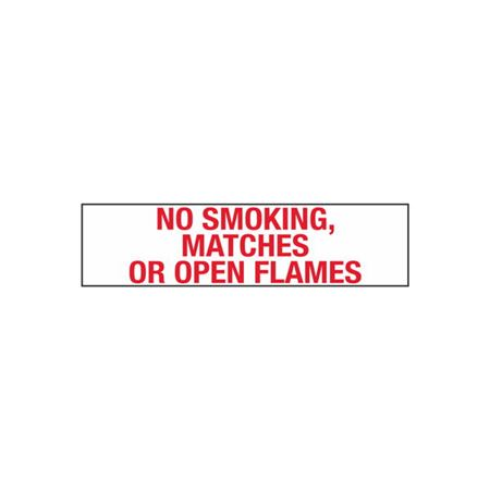 No Smoking, Matches or Open Flame - 2 in. x 8 in.