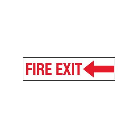 Fire Exit (Left) - 2 in. x 8 in.