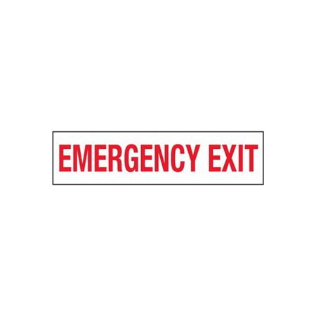 Emergency Exit - 2 in. x 8 in.