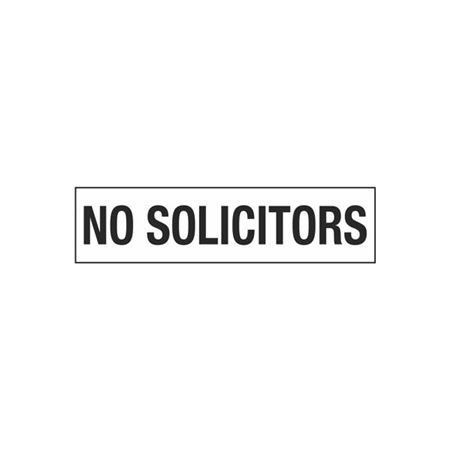 No Solicitors - 2 in. x 8 in.