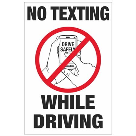 No Texting While Driving - No Texting While Driving 4 x 6