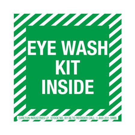 Safety Decals - Eyewash Kit Inside 4 x 4