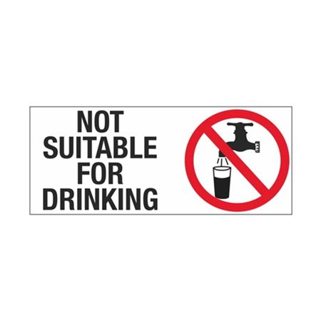 Not Suitable For Drinking Sign